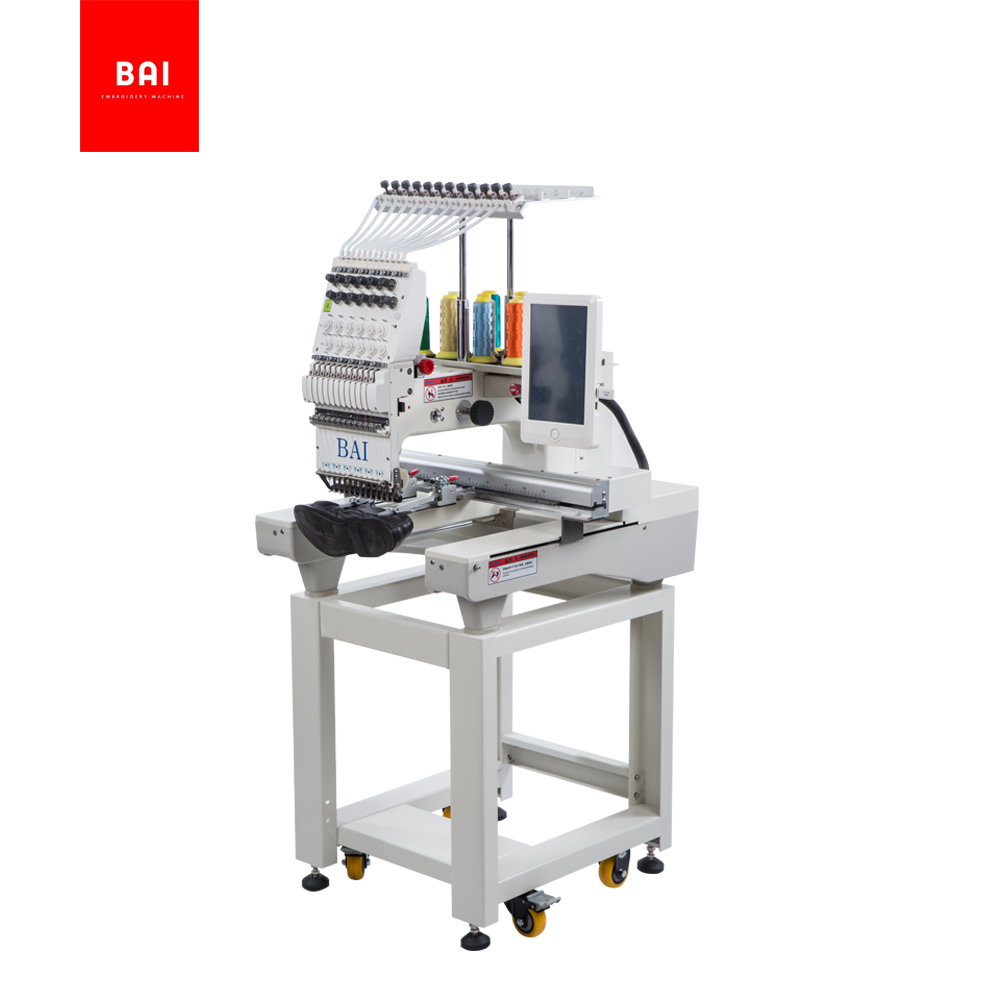 BAI Worktable Size 350*500mm 1 Head T-shirt Jeans Cloth Embroidery Machine