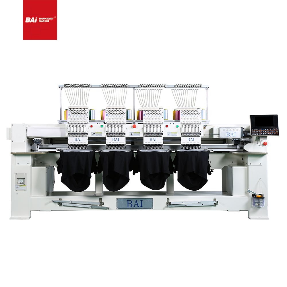 BAI High Speed 4 Head Flat Embroidery Machine for Home Use