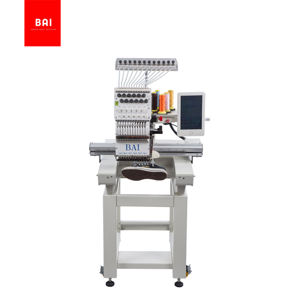 BAI Computerized Operation New One Head 350*500mm Flatbed Embroidery Machines