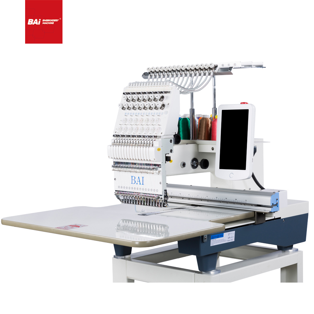 BAI Single Head Industrial Computer Cap Embroidery Machine with High Quality