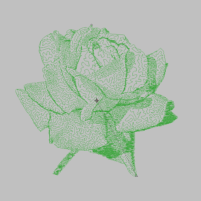 Free embroidery patterns for 2020 Monochrome rose for Home embroidery