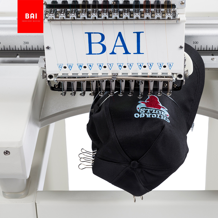 BAI Factory Direct Single Head Sheet Flat Bed Computer Embroidery Machine Supplier
