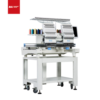 BAI Multi Needle Cheap Two Heads Hat Top Commercial Embroidery Machines Price with Latest Technology