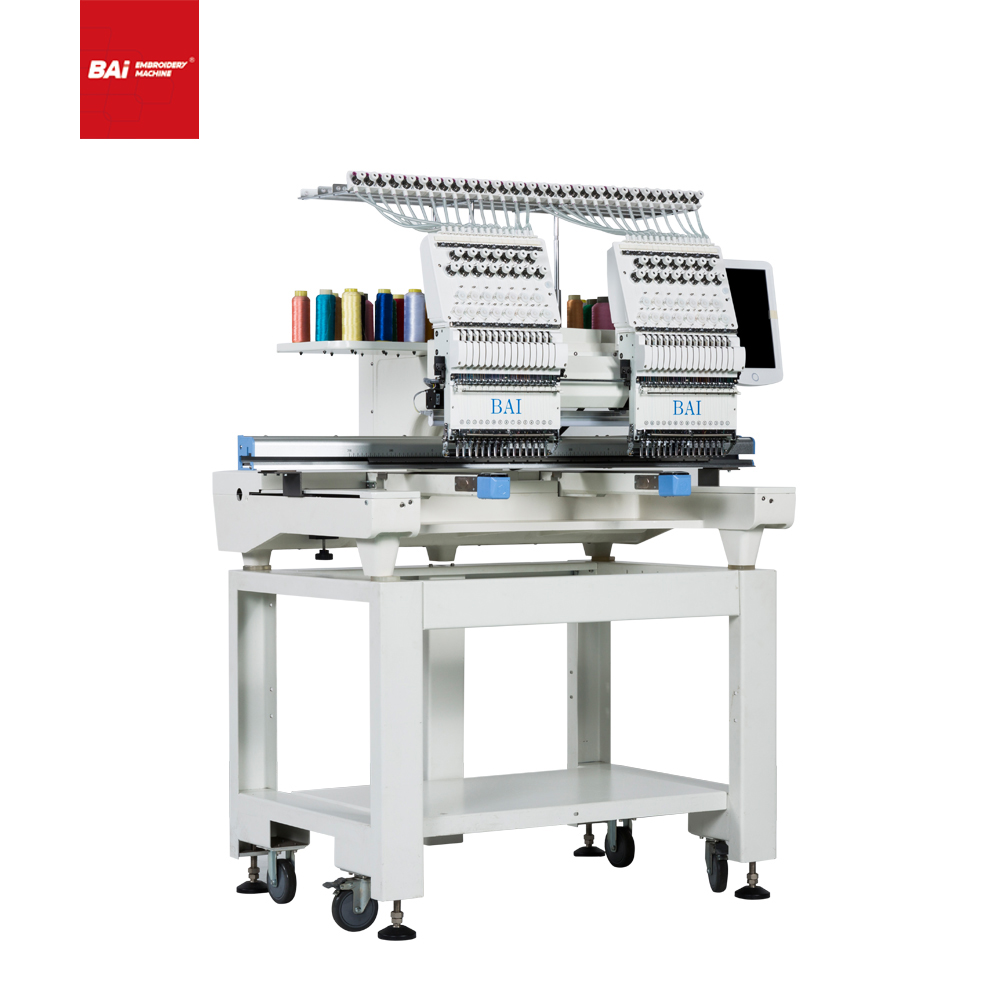 BAI DAHAO High Speed Two Head Computer Embroidery Machine for Cap T-shirt