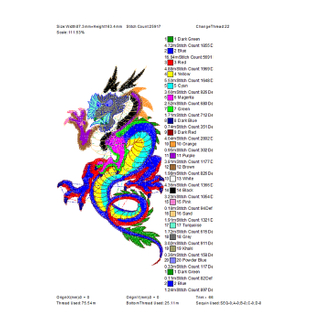 The Coolest Men's Dragon Totem Embroidery Can Be Used for Cap T-shirts