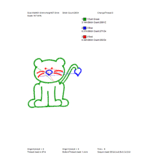 The most popular lion embroidery pattern is used for sock embroidery
