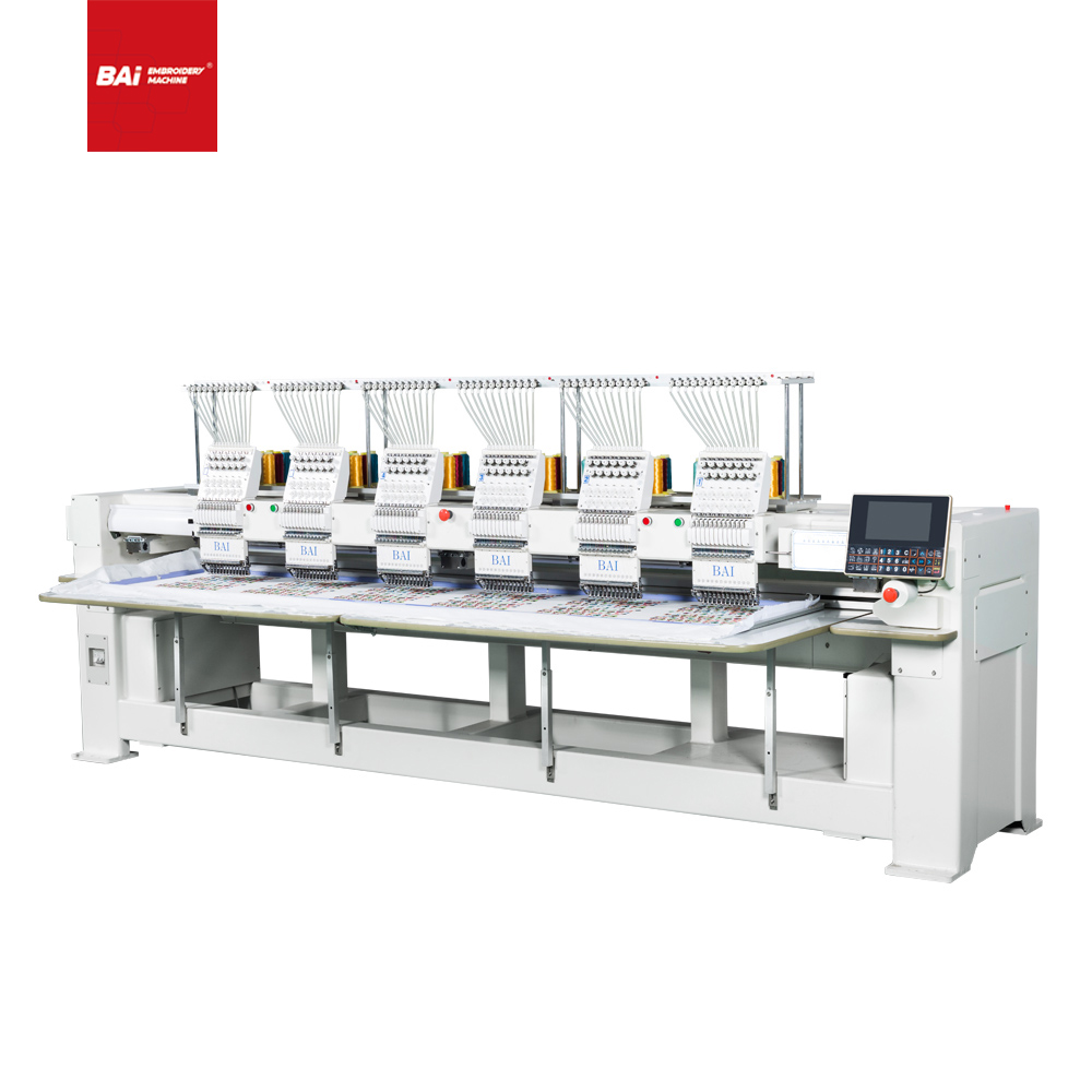 BAI Six Heads High Speed 12 Needles Dahao Cap Computer Embroidery Machine Price