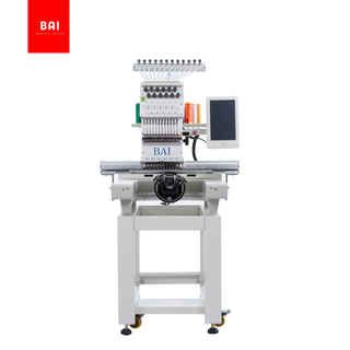 BAI Professional Single Head Flatbed Computerized Hat Garment Embroidery Machine Price