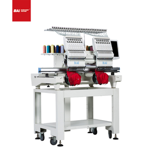 BAI Two Head Computer Embroidery Machine with 10 Inches Screen