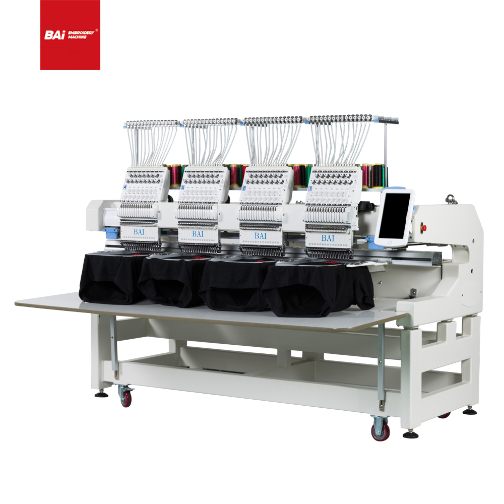 BAI high efficiency four head large area computerized cap t-shirt jacket embroidery machine