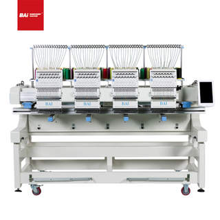 BAI Automatic Computer Four Head Cap T-shirt Flat Embroidery Machine for Factory