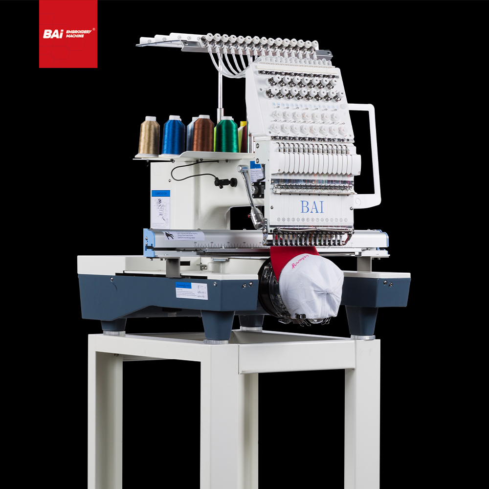 BAI Single Head 12 Colors T-shirt Garment Hat Computer Embroidery Machine