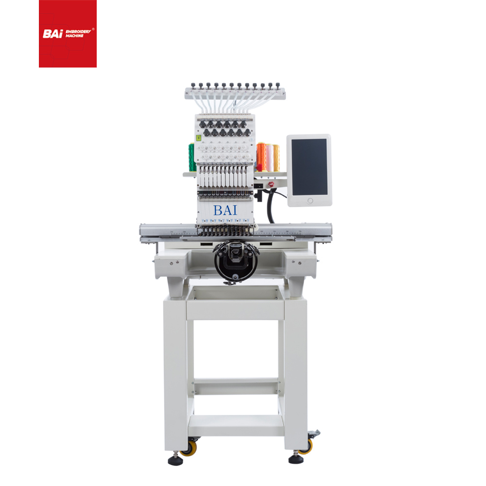 BAI High Quality Commercial Computer Cap Embroidery Machine with A Long Use Time