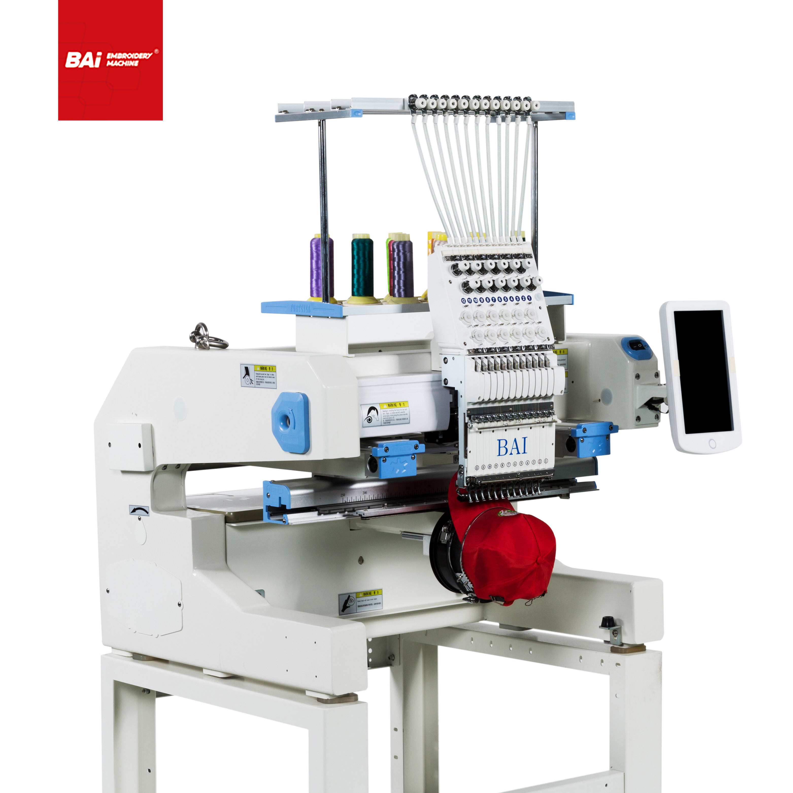 BAI Cheap Hat Embroidery Machine with Home Computerized
