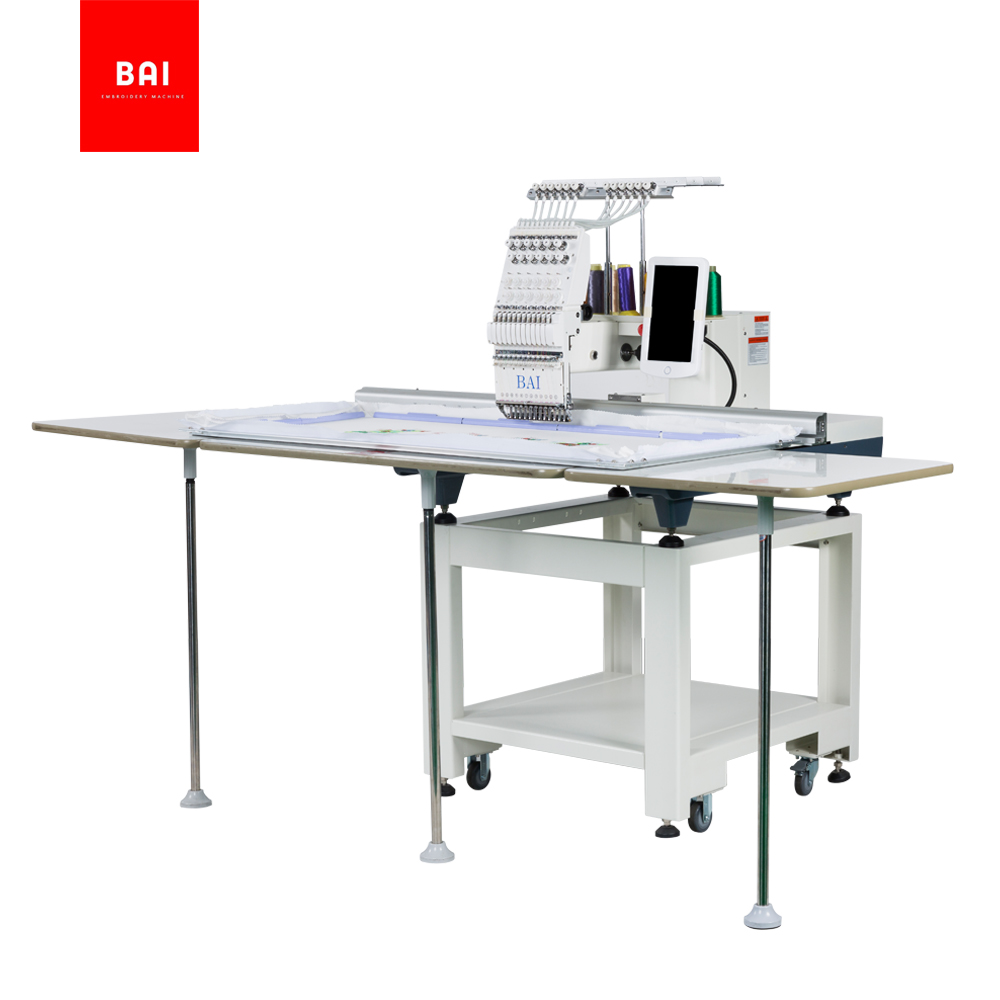 BAI 500*1200mm Computerized Embroidery Machines for Hat Tshirt And Flat Embroidery