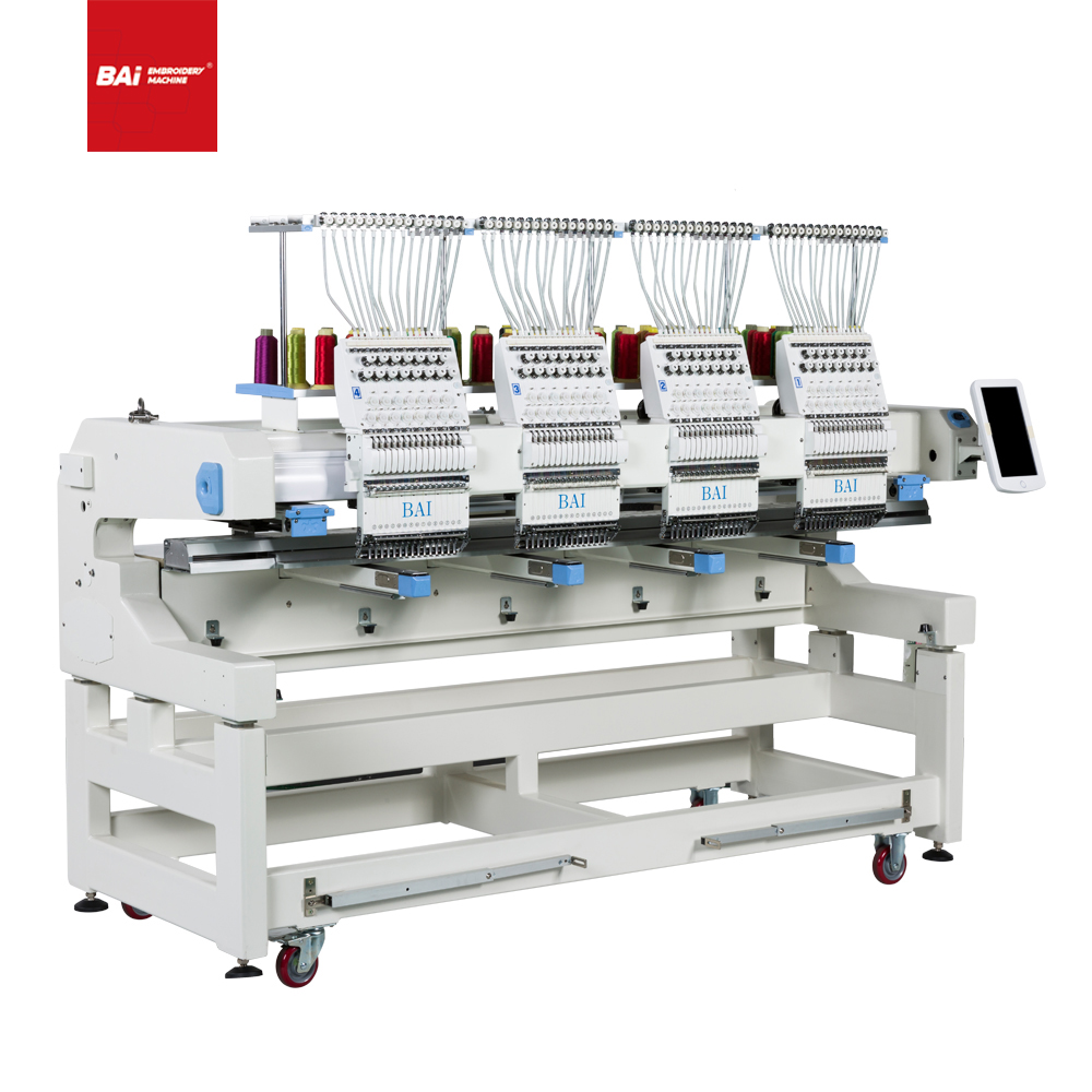 BAI Multi Head Automatic Computerized Embroidery Machine with High Speed for Factory