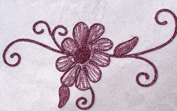 Towel embroidery
