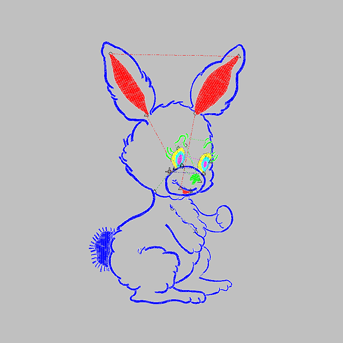 The hottest cute rabbit embroidery pattern for children embroidery