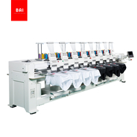 BAI High Speed 8 Head 9 Needles Hat T-shirt Computer Embroidery Machine
