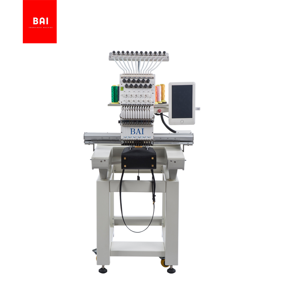 BAI Wholesale New 12 Colors Single Head Embroidery Machine Price