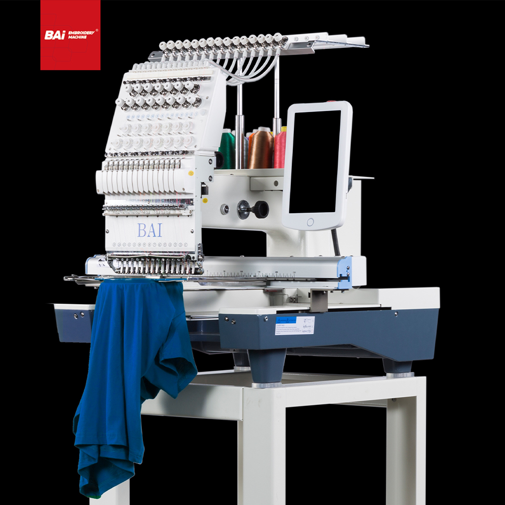BAI High Speed Commercial Computerized Embroidery Machine with Stepping Motor