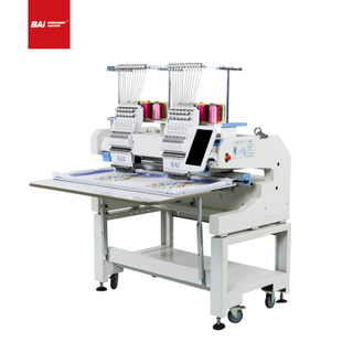 "BAI High Performance New 10"" Touch Screen Computer 2 Heads Flat T Shirt Cap Embroidery Machines"