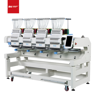 BAI Latest High Speed Industrial Computerized Embroidery Machine with Convenient Operation